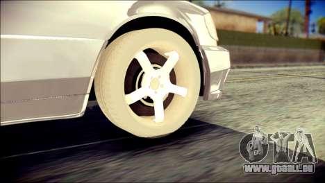 Mercedes-Benz W140 pour GTA San Andreas sur la vue arrière gauche