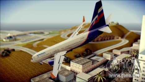 Boeing 737-800 Aeroflot pour GTA San Andreas laissé vue
