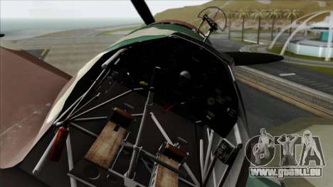 Fokker D.XXI für GTA San Andreas rechten Ansicht