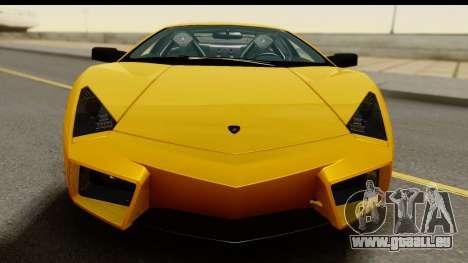 Lamborghini Reventon 2008 für GTA San Andreas zurück linke Ansicht