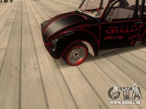 Volkswagen Super Beetle Grillos Racing v1 pour GTA San Andreas vue arrière