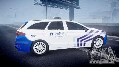 Ford Fusion Estate 2014 Belgian Police [ELS] pour GTA 4 est une gauche