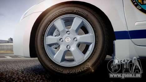 Nissan Altima Hybrid NYPD pour GTA 4 Vue arrière