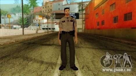 Depurty Alex Shepherd Skin without Flashlight für GTA San Andreas