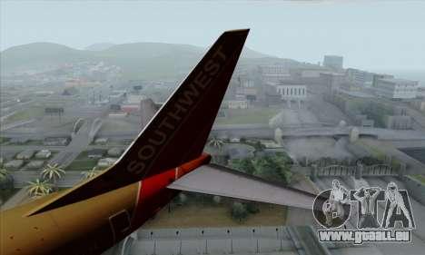 Boeing 737-800 Southwest Gold für GTA San Andreas zurück linke Ansicht