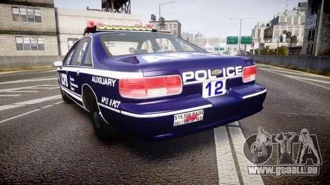 Chevrolet Caprice 1993 LCPD WoH Auxiliary [ELS] pour GTA 4 Vue arrière de la gauche