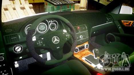 Mercedes-Benz C180 FlyUS für GTA 4 Rückansicht