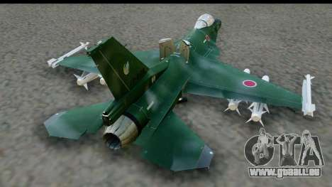 F-2A Zero Dark Green pour GTA San Andreas vue de droite
