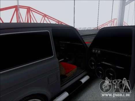 Lada Niva pour GTA San Andreas vue de dessus