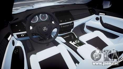 BMW X6 Tycoon EVO M 2011 Hamann pour GTA 4 Vue arrière