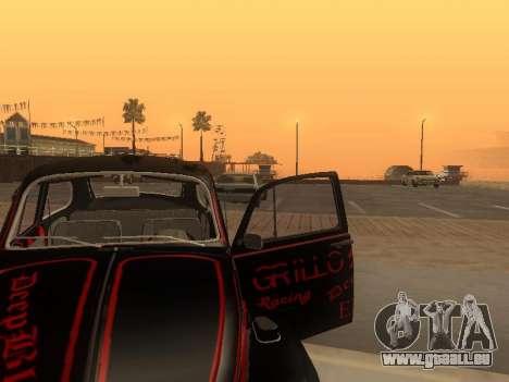 Volkswagen Super Beetle Grillos Racing v1 pour GTA San Andreas vue de dessus