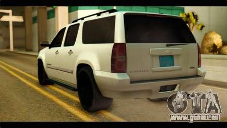 Chevrolet Suburban 2010 NFS pour GTA San Andreas laissé vue