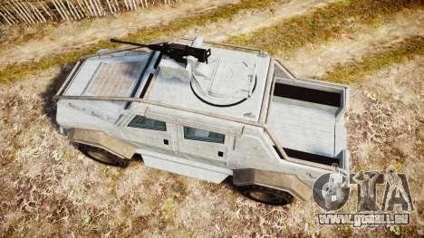 GTA V HVY Insurgent Pick-Up für GTA 4 rechte Ansicht