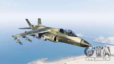 Hydra green camouflage für GTA 5