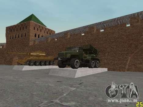 Ural 375 Grad MLRS für GTA San Andreas Innenansicht