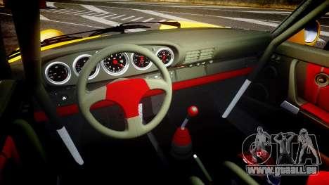 RUF CTR Yellow Bird pour GTA 4 est une vue de l'intérieur