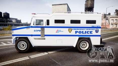 GTA V Brute Police Riot [ELS] skin 4 für GTA 4 linke Ansicht