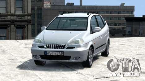 Daewoo Tacuma (Rezzo) CDX 2001 pour GTA 4 Vue arrière