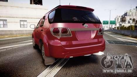 Toyota Hilux SW4 2015 pour GTA 4 Vue arrière de la gauche