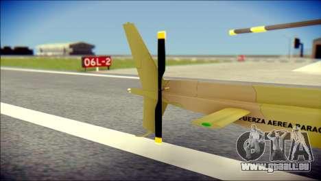 Esquilo 350 Fuerza Aerea Paraguaya für GTA San Andreas zurück linke Ansicht