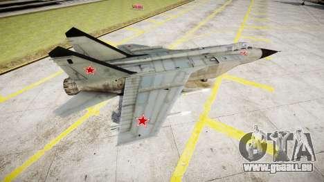 Le MiG-25 pour GTA 4 est une gauche