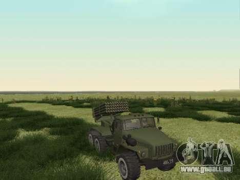 Ural 375 Grad MLRS für GTA San Andreas zurück linke Ansicht