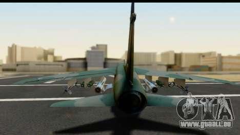 Ling-Temco-Vought A-7 Corsair 2 Belkan Air Force für GTA San Andreas Rückansicht