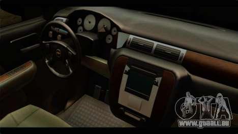 Chevrolet Suburban 2010 FBI pour GTA San Andreas vue de droite