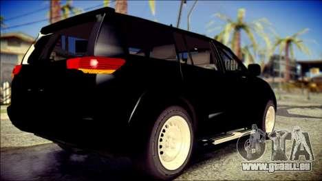 Mitsubishi Pajero Sport Dakar pour GTA San Andreas laissé vue