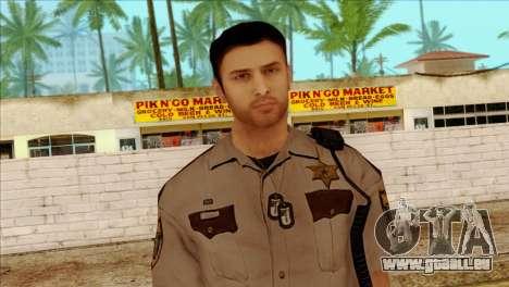 Depurty Alex Shepherd Skin without Flashlight für GTA San Andreas dritten Screenshot