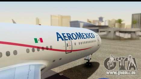 Boeing 777-200ER AeroMexico pour GTA San Andreas vue de droite