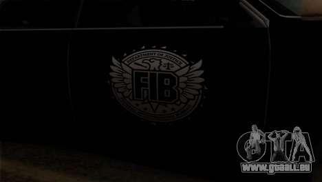Sultan FIB pour GTA San Andreas vue arrière