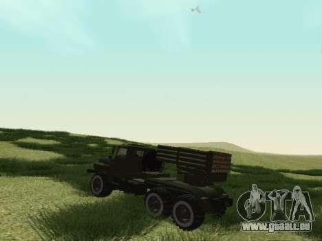Ural 375 Grad MLRS für GTA San Andreas rechten Ansicht