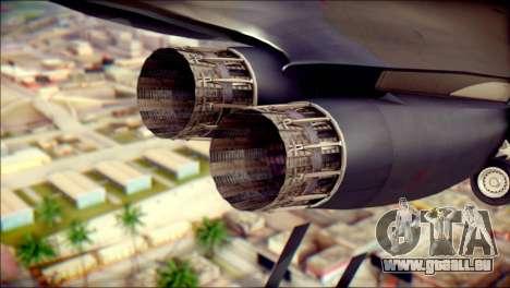 B-1B Lancer Camo Texture pour GTA San Andreas vue de droite