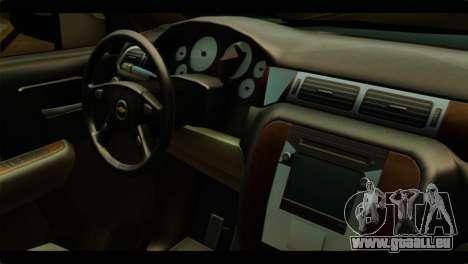 Chevrolet Suburban 2010 NFS für GTA San Andreas rechten Ansicht