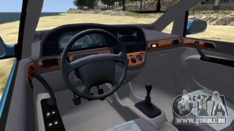 Daewoo Tacuma (Rezzo) CDX 2001 pour GTA 4 est une vue de l'intérieur