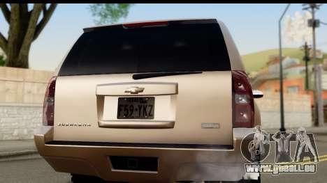 Chevrolet Suburban 4x4 für GTA San Andreas rechten Ansicht