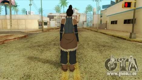 Korra Skin from The Legend Of Korra für GTA San Andreas zweiten Screenshot