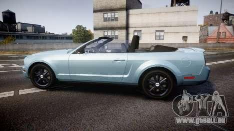 Ford Mustang Convertible Mk.V 2008 pour GTA 4 est une gauche