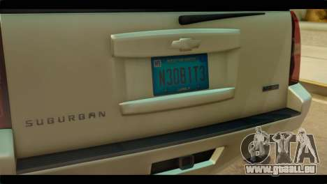 Chevrolet Suburban 2010 NFS pour GTA San Andreas vue arrière