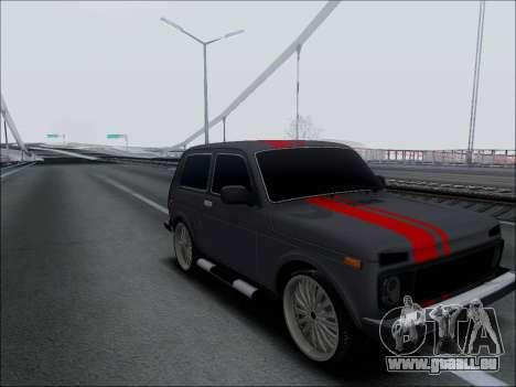 Lada Niva für GTA San Andreas Rückansicht