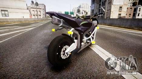 Honda CBR600RR Stunt pour GTA 4 Vue arrière de la gauche