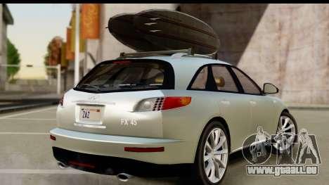 Infiniti FX 45 2007 pour GTA San Andreas laissé vue