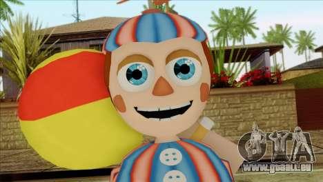 Balloon Boy from Five Nights at Freddys 2 pour GTA San Andreas troisième écran