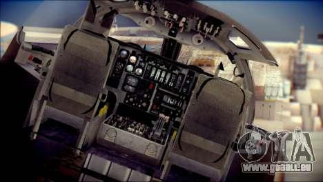 B-1B Lancer Camo Texture pour GTA San Andreas vue arrière