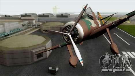 Fokker D.XXI für GTA San Andreas Rückansicht