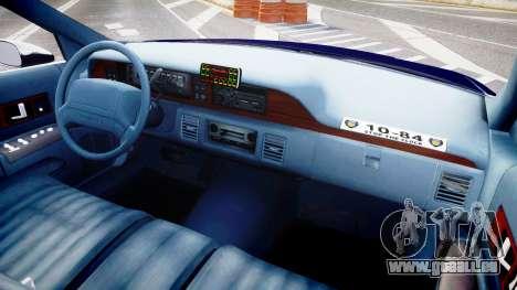 Chevrolet Caprice 1993 LCPD WoH Auxiliary [ELS] pour GTA 4 Vue arrière