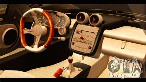 Pagani Zonda F pour GTA San Andreas vue de droite