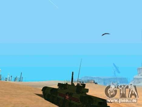 T-80U pour GTA San Andreas vue intérieure