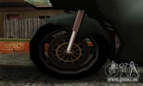 GTA LCS PCJ-600 pour GTA San Andreas sur la vue arrière gauche